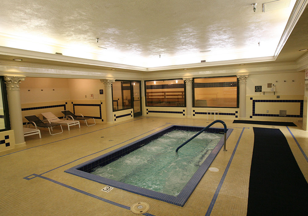 Glass steam room and sauna contemporary home gym other by
